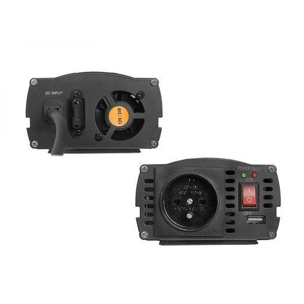 Įtampos keitiklis iš 12V24V į 220V 300600W VOLT IPS-600 Duo-2