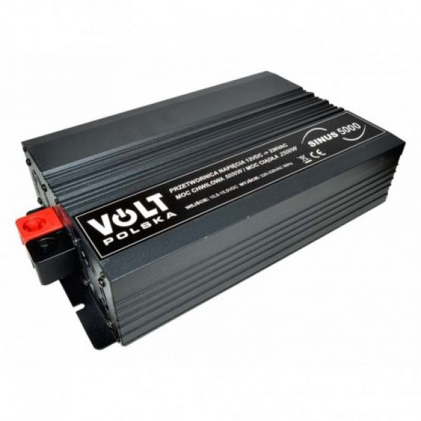 Įtampos keitiklis iš 24V į 220V 2500/5000W Sinus-5000 Volt-2