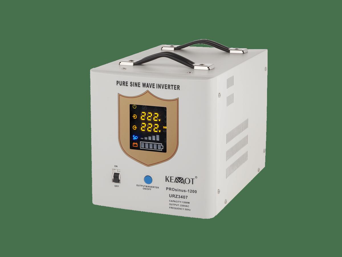 Nepertraukiamas maitinimo šaltinis (katilui) 12V / 220V 1200W Kemot PROsinus baltas