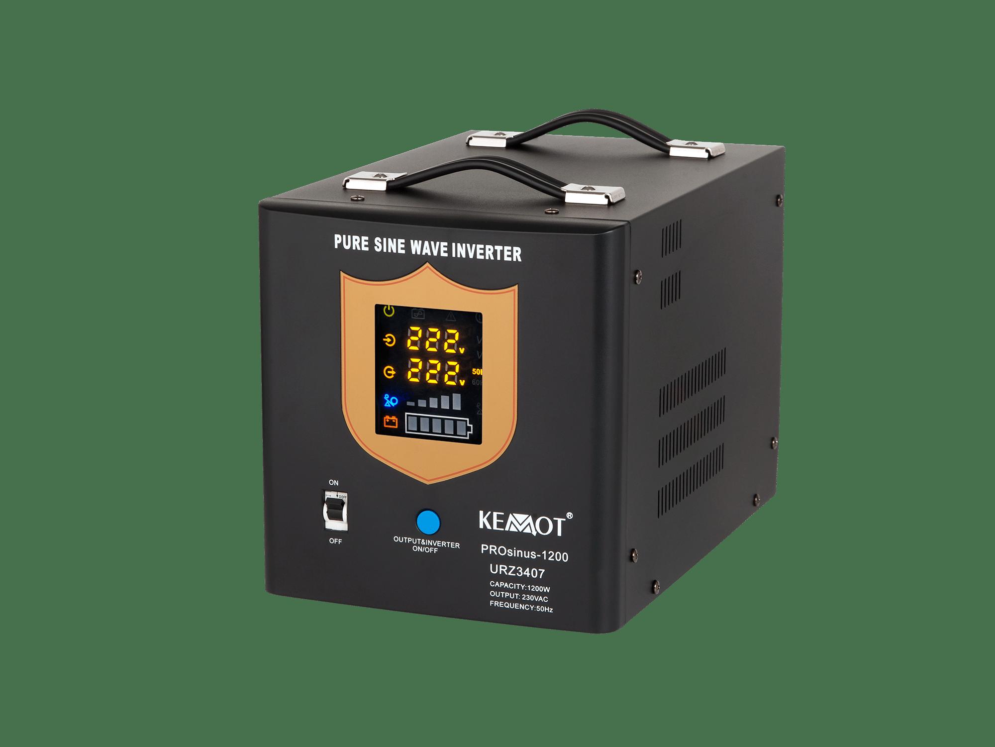 Nepertraukiamas maitinimo šaltinis (katilui) 12V / 220V 1200W Kemot PROsinus