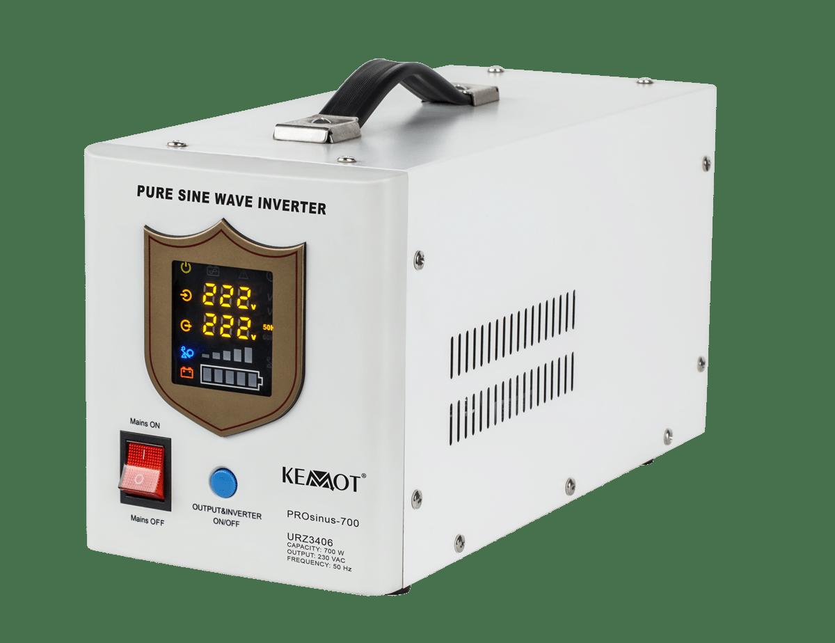Nepertraukiamas maitinimo šaltinis (katilui) 12V / 220V 700W Kemot PROsinus