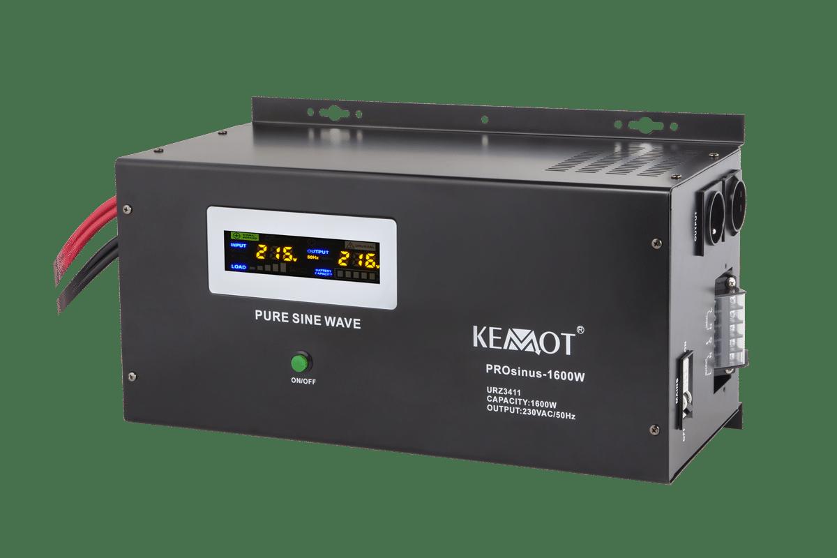 Nepertraukiamas maitinimo šaltinis (katilui) 12V / 220V 1600W Kemot PROsinus