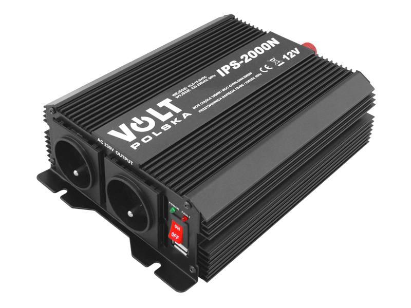 Įtampos keitiklis iš 12V į 220V 1000/2000W Volt