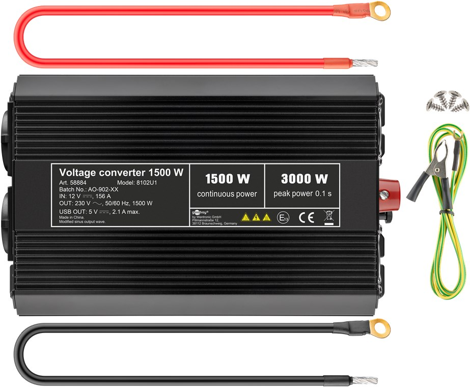 Įtampos keitiklis iš 12V į 220V 15003000W-2